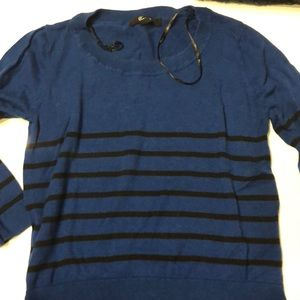 Stripped blue and black sweater